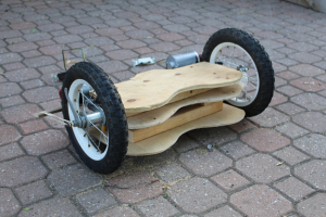 hoverboard with cardboard